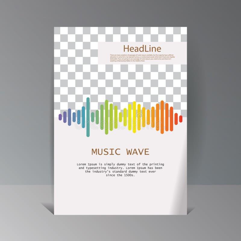 Bandera colorida de las ondas acústicas Símbolo aislado del diseño libre illustration