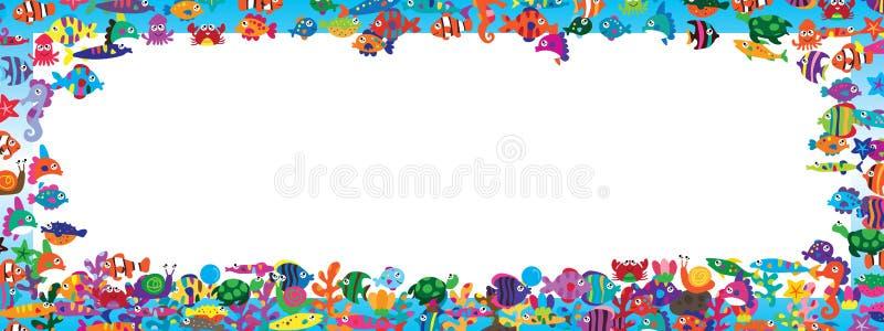 Bandera colorida del animal de mar libre illustration