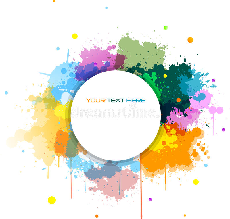 Bandera colorida del grunge libre illustration