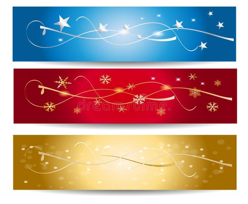 Bandera colorida del vector de la Navidad stock de ilustración