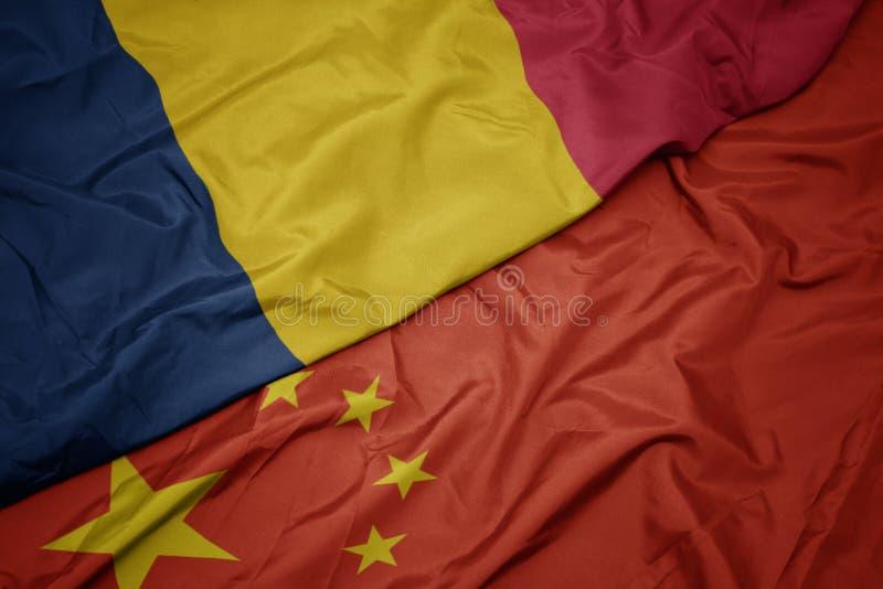 bandera colorida que agita de China y bandera nacional del sábalo foto de archivo libre de regalías
