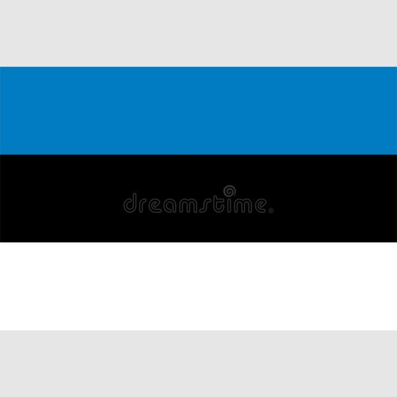 Bandera común 1 de Estonia del vector libre illustration