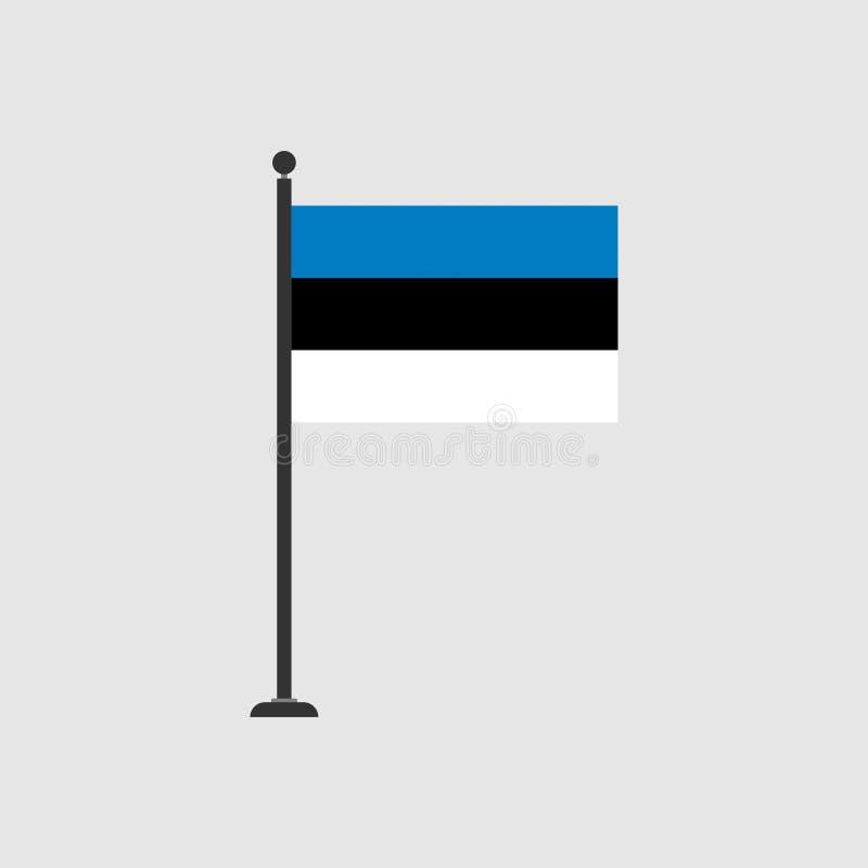 Bandera común 3 de Estonia del vector ilustración del vector