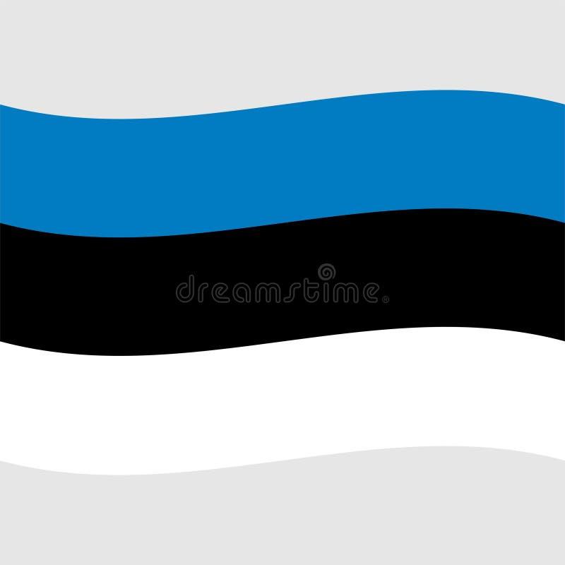 Bandera común 2 de Estonia del vector libre illustration
