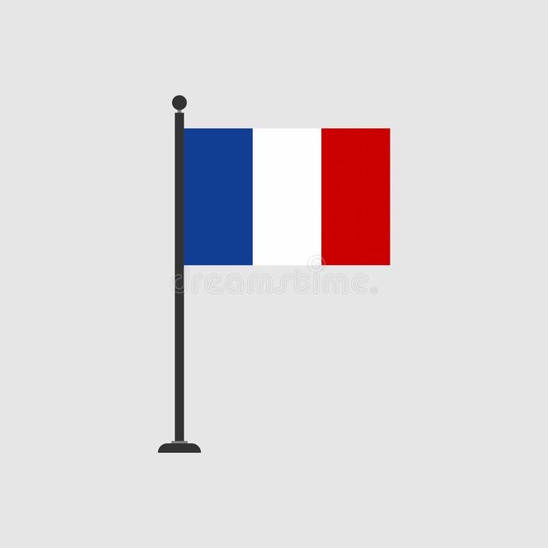 Bandera común 3 de Francia del vector ilustración del vector