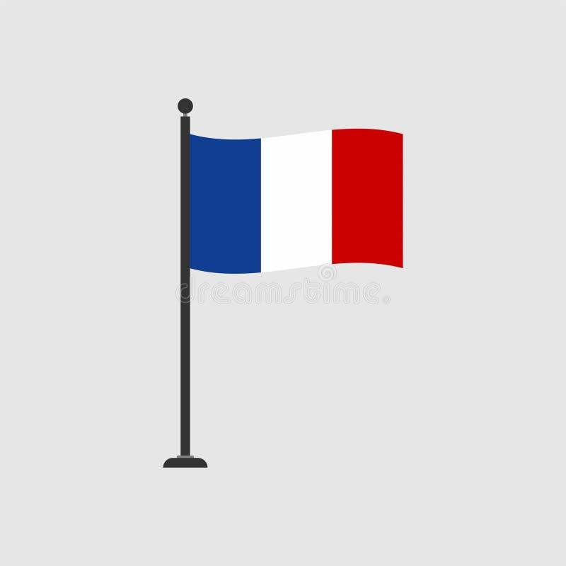 Bandera común 4 de Francia del vector ilustración del vector