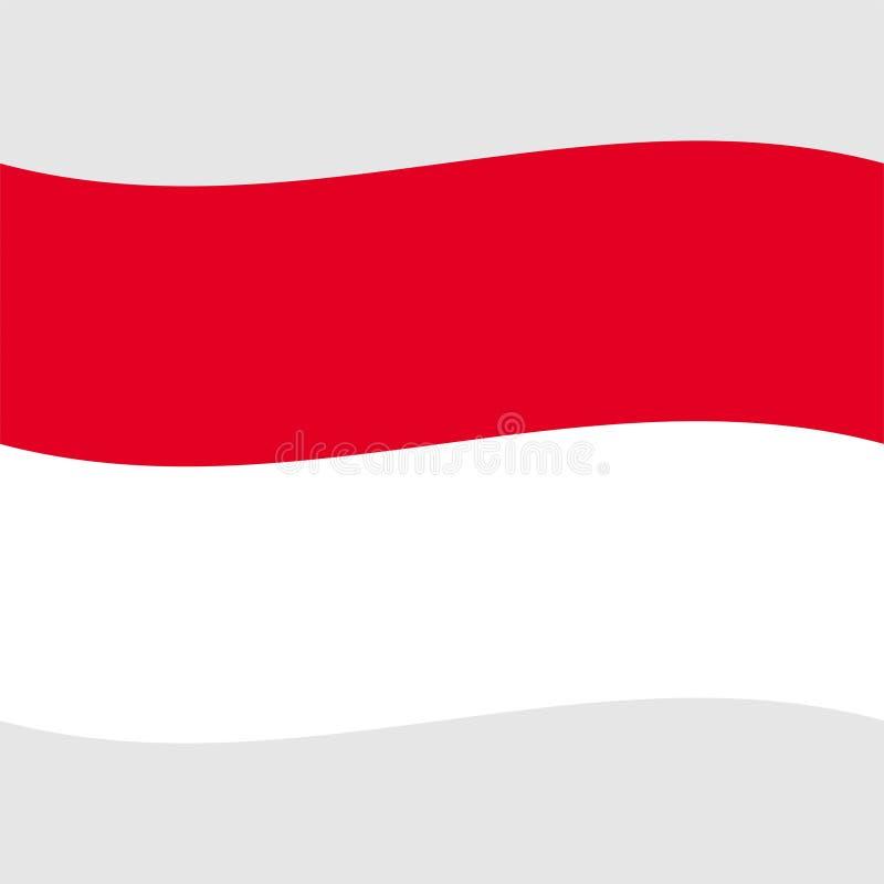 Bandera común 2 de Mónaco del vector ilustración del vector