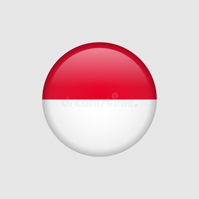 Bandera común 5 de Mónaco del vector ilustración del vector