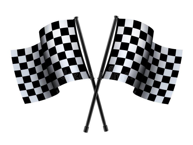 Bandera comprobada del deporte ilustración del vector
