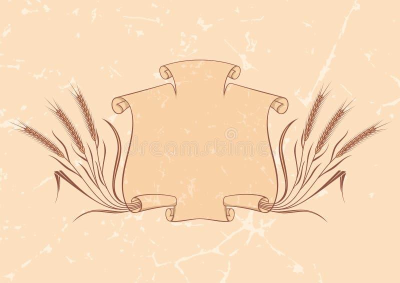 Bandera con amarillento del trigo libre illustration