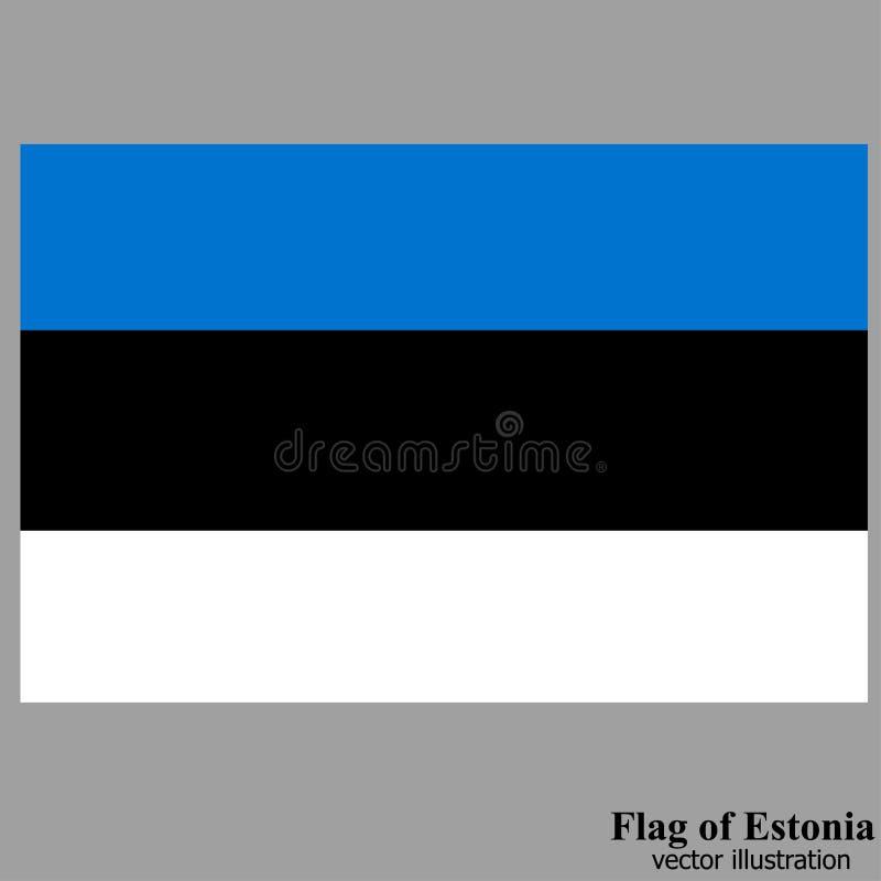 Bandera con la bandera de Estonia Vector ilustración del vector