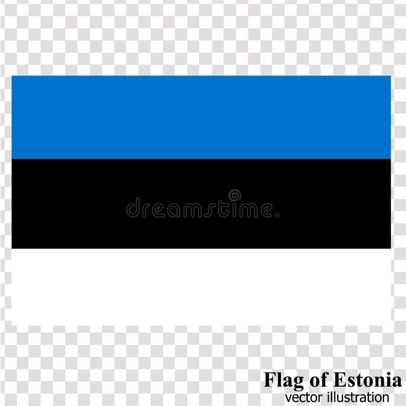 Bandera con la bandera de Estonia Vector libre illustration