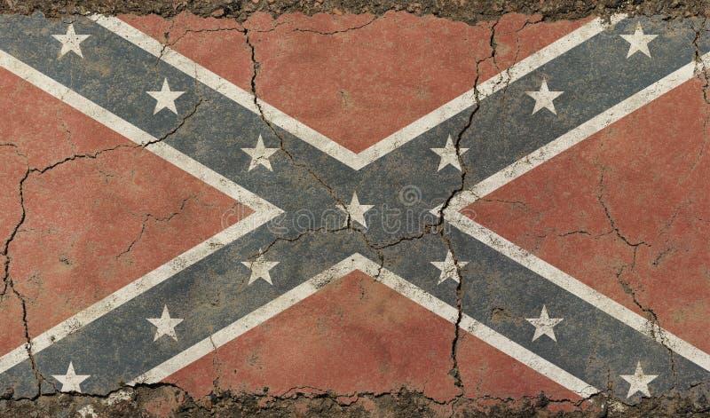 Bandera confederada americana de los E.E.U.U. del viejo vintage del grunge fotografía de archivo