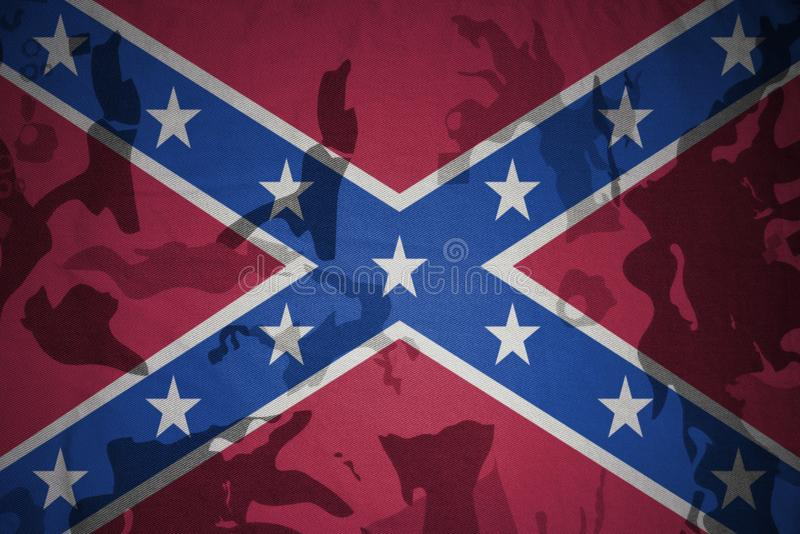 bandera confederada del enchufe en la textura de color caqui Concepto militar libre illustration