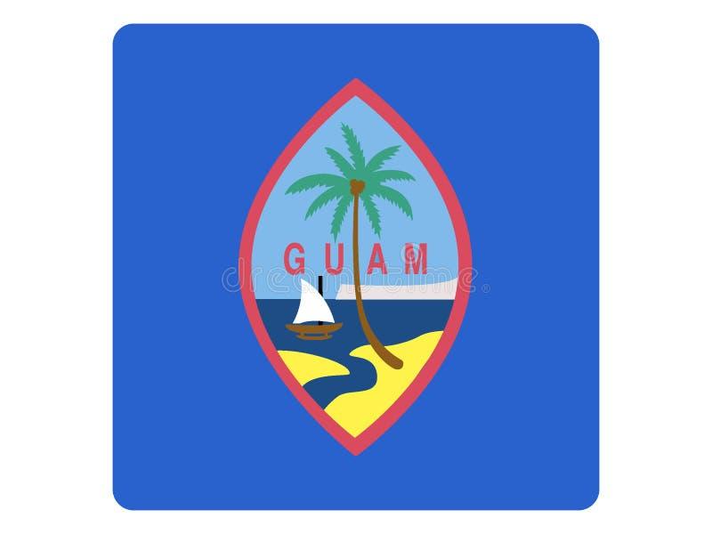 Bandera cuadrada de Guam stock de ilustración