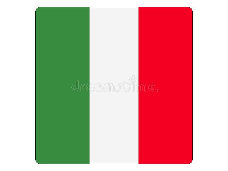 Bandera cuadrada de Italia ilustración del vector