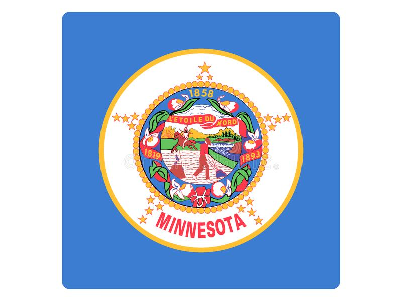 Bandera cuadrada del estado de los E.E.U.U. de Minnesota libre illustration
