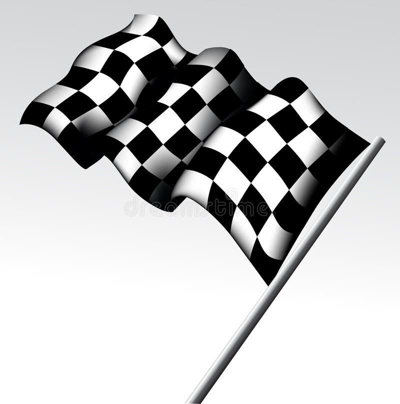 Bandera a cuadros stock de ilustración
