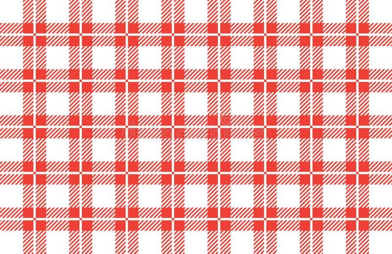Bandera a cuadros roja y blanca del mantel Texturice para: tela escocesa, manteles, camisas, vestidos, papel, lecho, mantas, edre imagenes de archivo