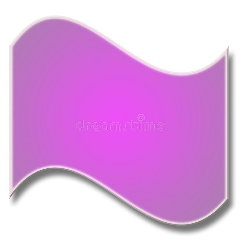 Bandera curvada púrpura libre illustration