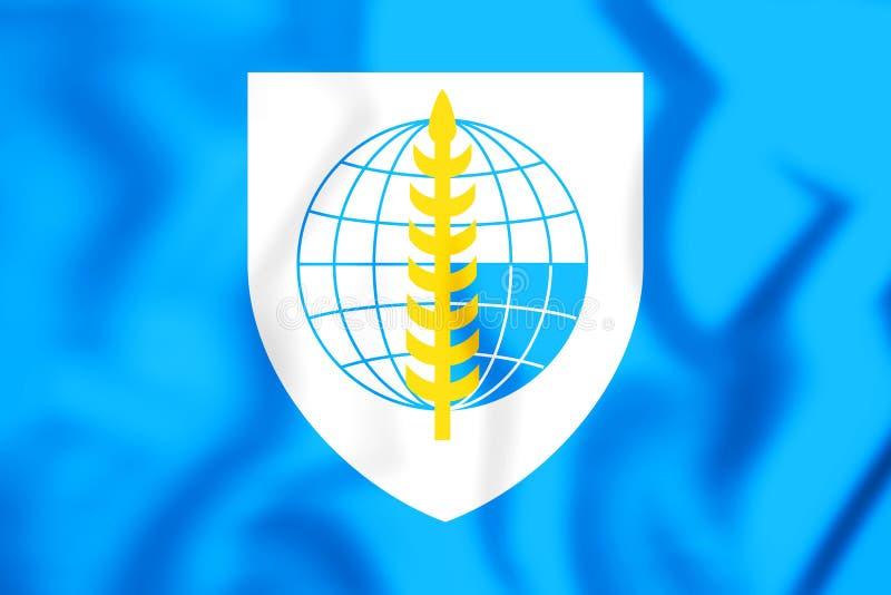 bandera 3D de la organización del tratado de Asia sudoriental ilustración del vector
