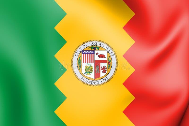 bandera 3D de Los Ángeles, los E.E.U.U. ilustración del vector