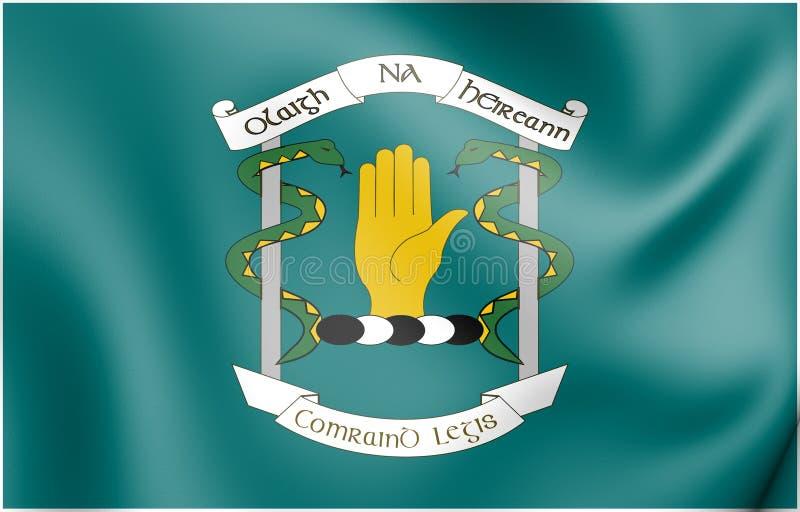 bandera 3D del cuerpo médico de las fuerzas de defensa, Irlanda libre illustration