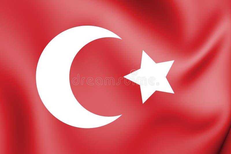 bandera 3D del imperio otomano 1299-1923 libre illustration