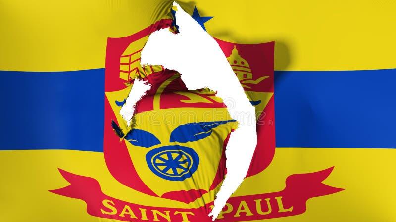 Bandera dañada del capital de Saint Paul stock de ilustración