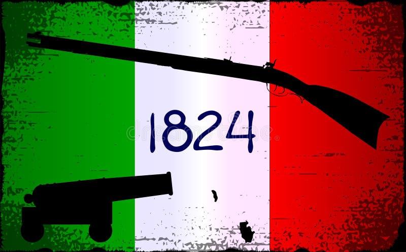 Bandera de Álamo con el mosquete libre illustration