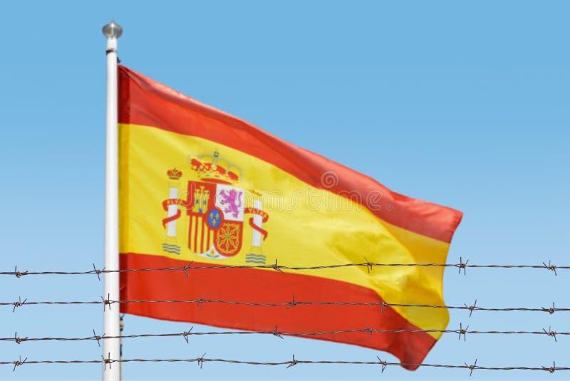 Bandera de alambres imágenes de archivo libres de regalías