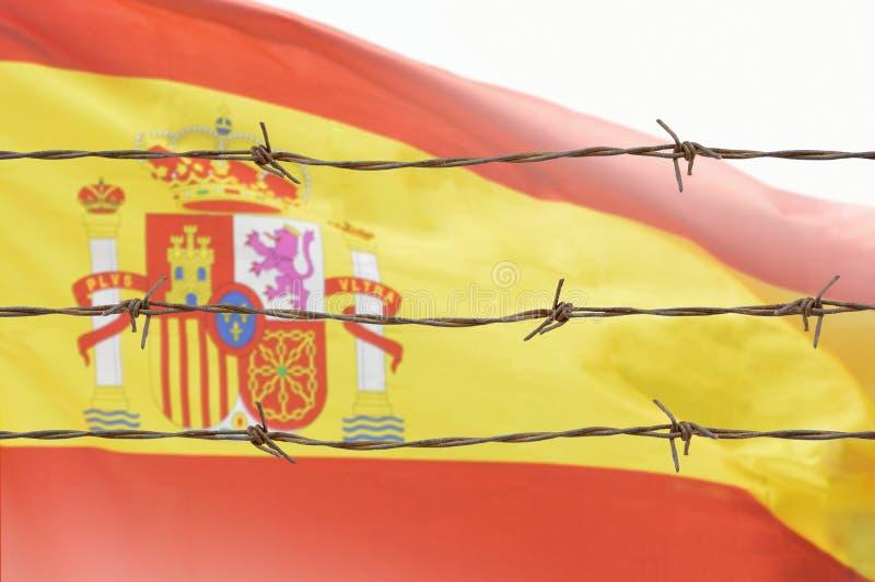 Bandera de alambres fotografía de archivo libre de regalías