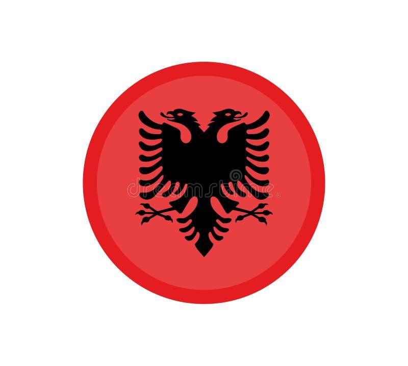 Bandera de Albania del vector, ejemplo de la bandera de Albania, imagen de la bandera de Albania, imagen de la bandera de Albania ilustración del vector