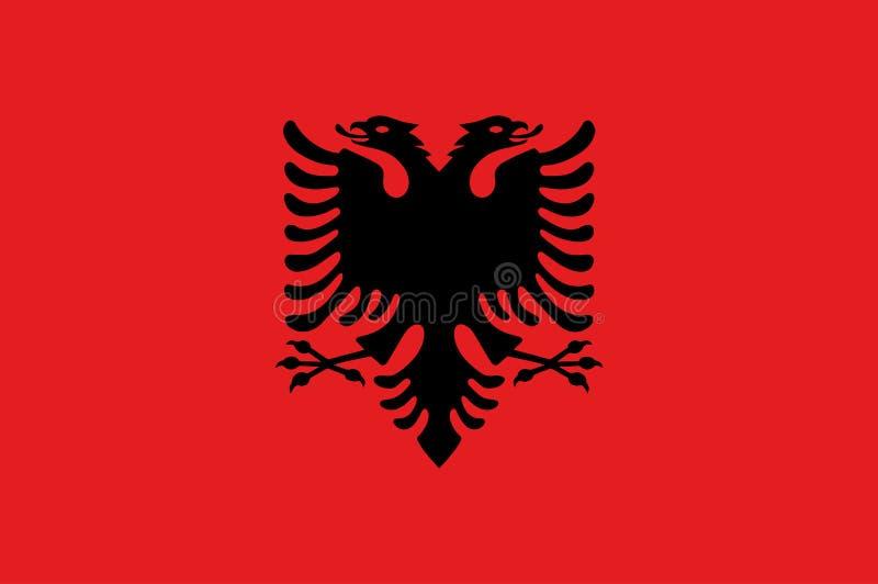 Bandera de Albania del vector, ejemplo de la bandera de Albania, imagen de la bandera de Albania, imagen de la bandera de Albania libre illustration