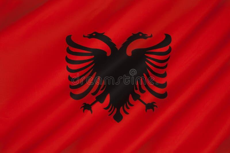 Bandera de Albania - Europa Oriental imagen de archivo libre de regalías
