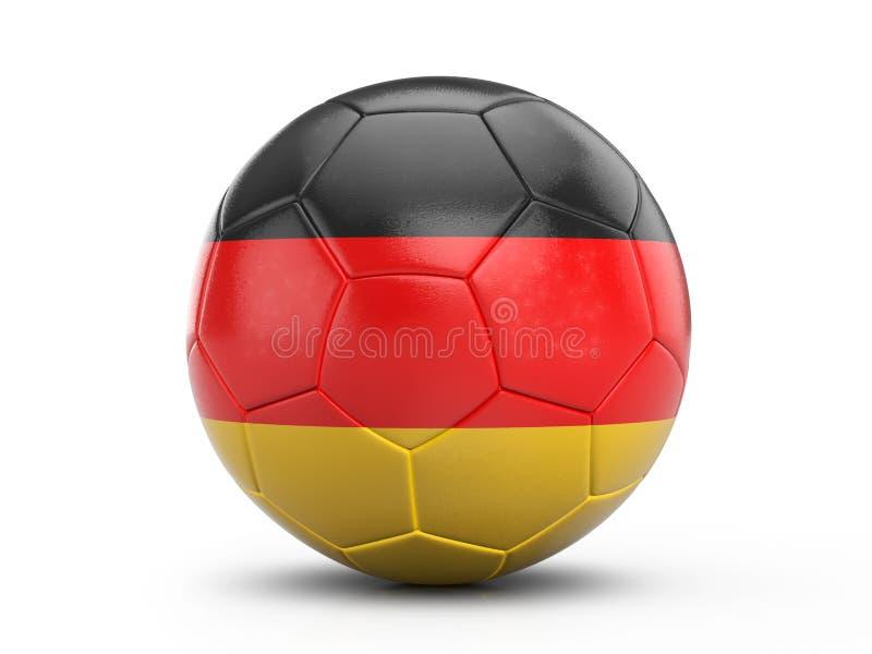 Bandera de Alemania del balón de fútbol ilustración del vector