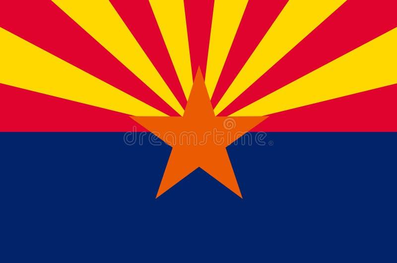 Bandera de Arizona, los E.E.U.U. ilustración del vector