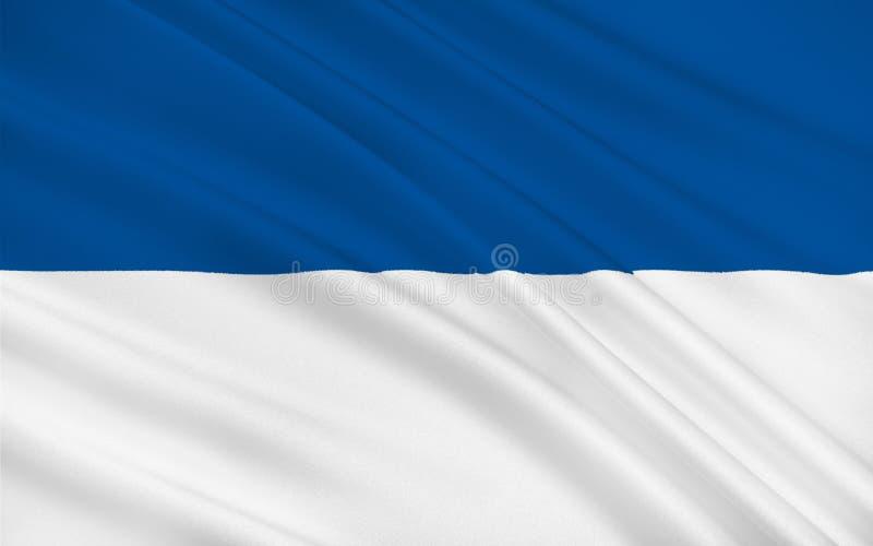 Bandera de Assen de Países Bajos imágenes de archivo libres de regalías