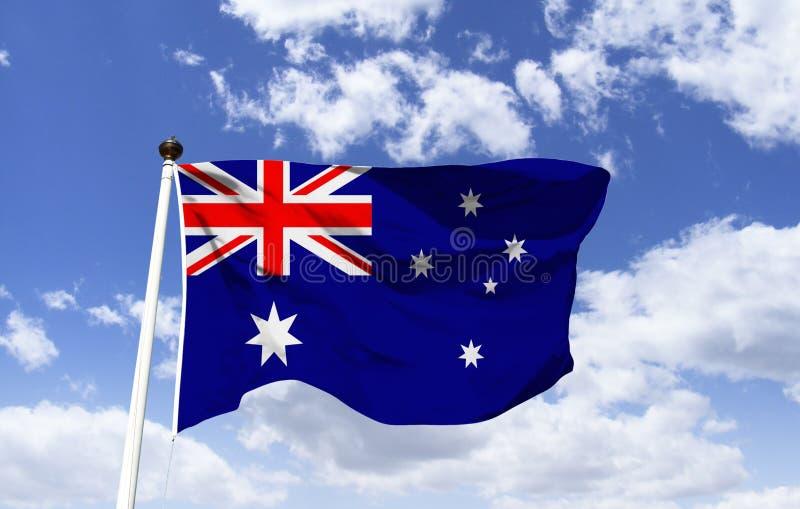 Bandera de Australia, cruz del sur imágenes de archivo libres de regalías