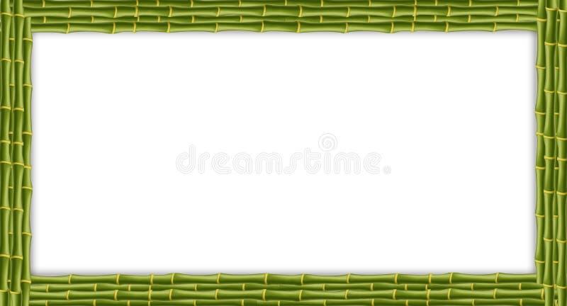 Bandera de bambú de los palillos del rectángulo verde con el espacio de la copia ilustración del vector
