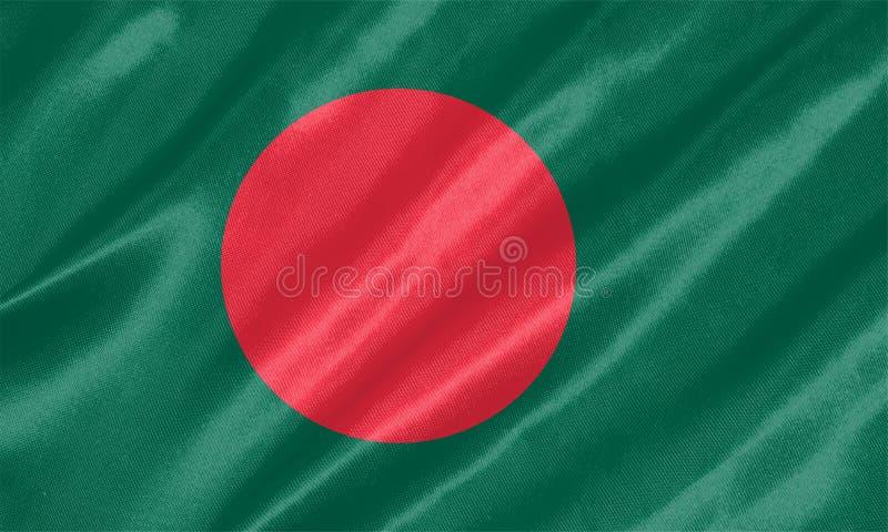 Bandera de Bangladesh stock de ilustración