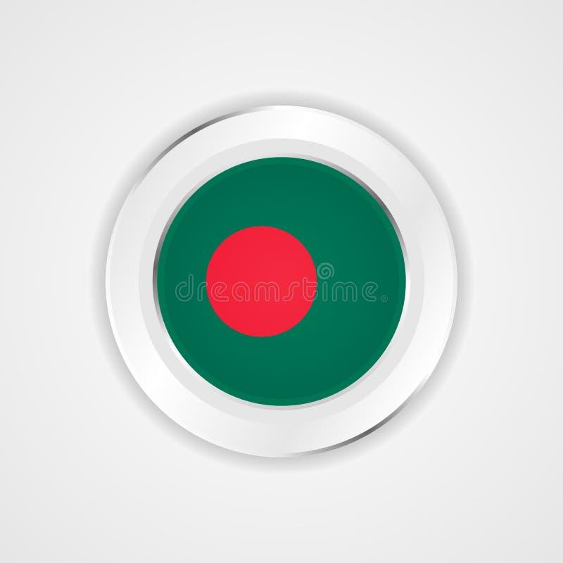 Bandera de Bangladesh en icono brillante libre illustration