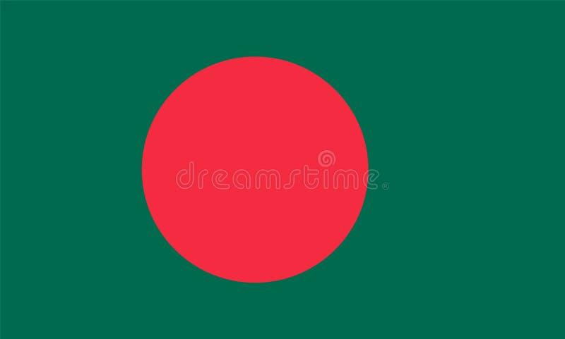 Bandera de Bangladesh ilustración del vector