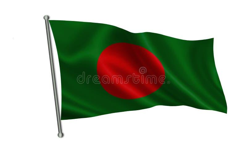 Bandera de Bangladesh Una serie de banderas del ` del mundo ` El país - bandera de Bangladesh stock de ilustración