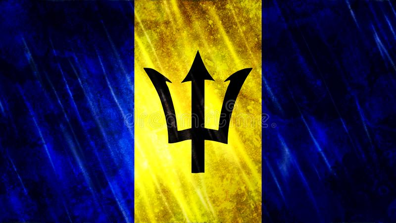 Bandera de Barbados imagenes de archivo