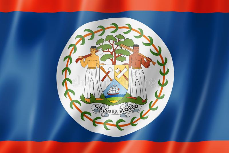Bandera de Belice ilustración del vector