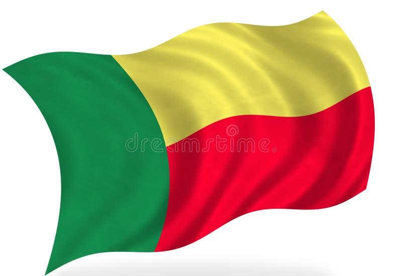 Bandera de Benin ilustración del vector