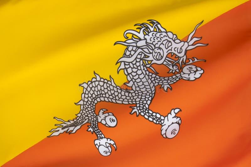 Bandera de Bhután foto de archivo