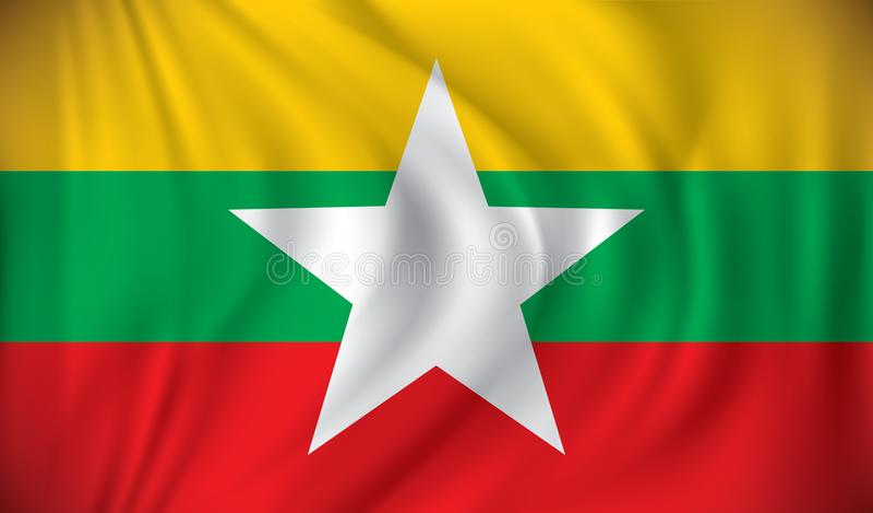Bandera de Birmania libre illustration