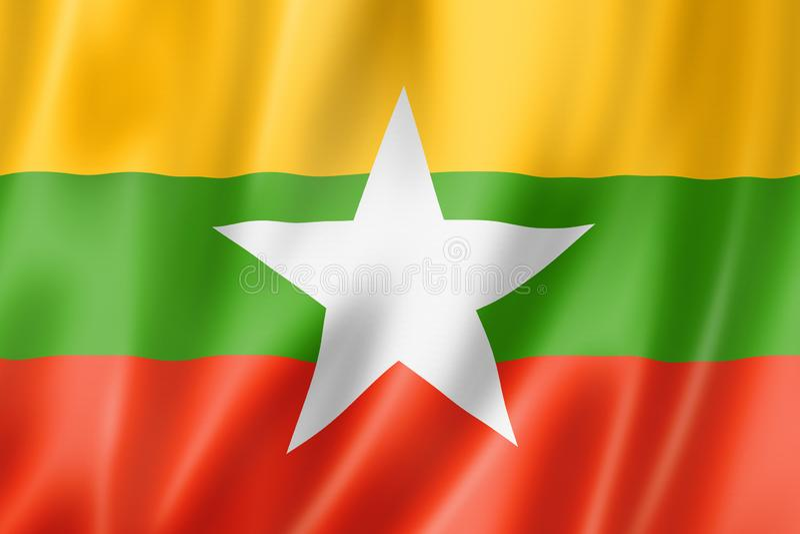 Bandera de Birmania Myanmar libre illustration